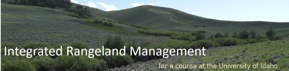 Integrated Rangeland Management